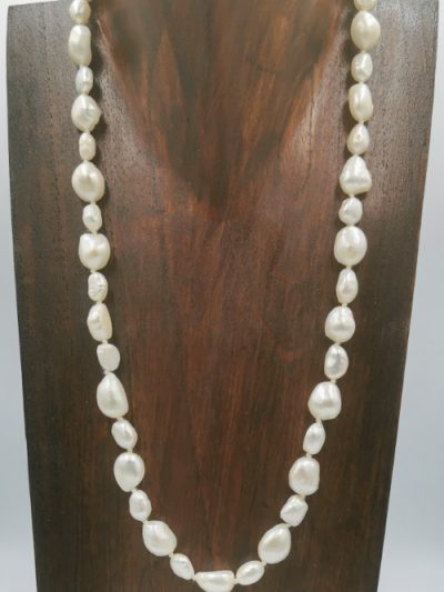 Mixed white freshwater pearl necklace