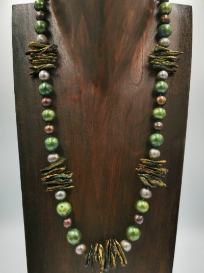 Exclusive mixed freshwater pearl necklace