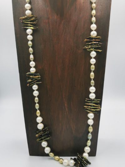 mixed freshwater pearl necklace